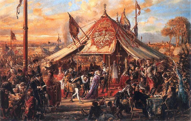 The Republic at the Zenith of Its Power. Golden Liberty. The Royal Election of 1573, by Jan Matejko