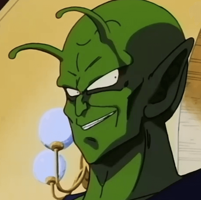 piccolo looking to the side smiling