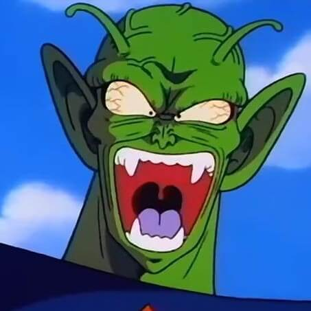 piccolo shocked and enraged