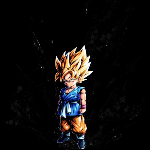 Sp Super Saiyan Kid Goku Green Dragon Ball Legends Wiki