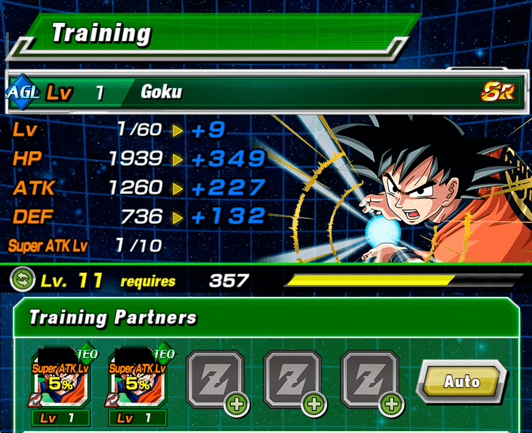 Another Training Screen of Dokkan Battle