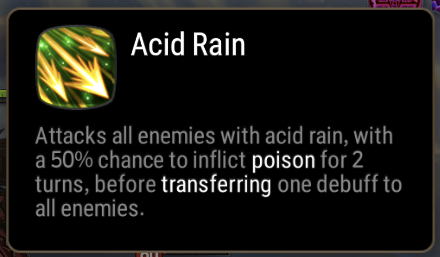 Acid Rain Skill Description