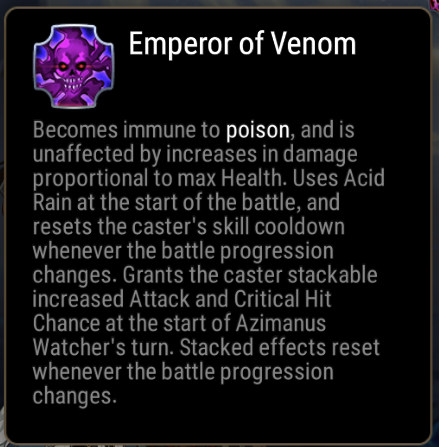 Emperor of Venom Ability Description