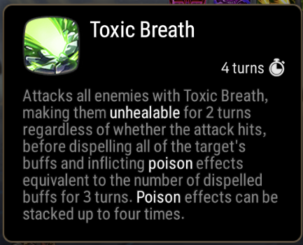 Toxic Breath Skill Description
