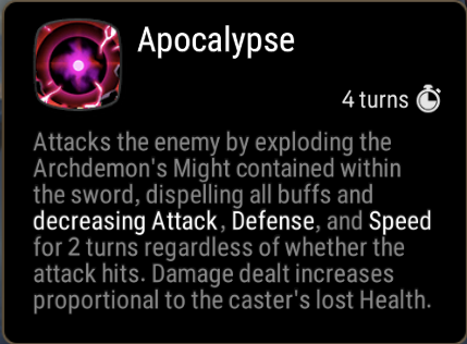 Apocalypse Skill Description