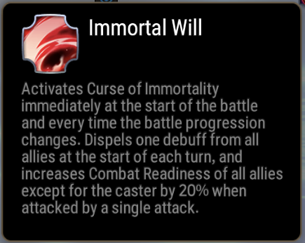 Immortal Will Skill Description