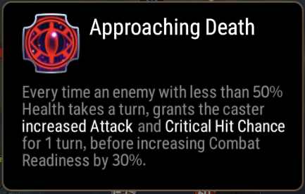 Approaching Death Skill Description