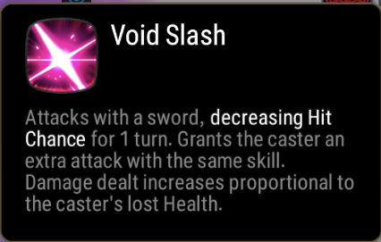 Void Slash Skill Description