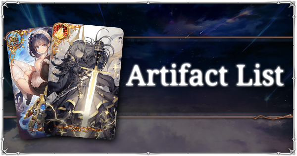Artifact List | Epic Seven Wiki - GamePress