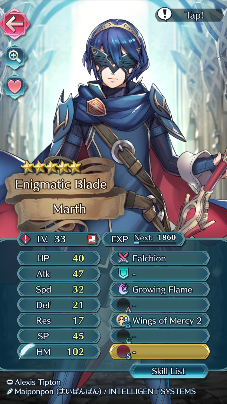 Fe Heroes Iv Calculator >> Jaw dropping build for Masked Marth?! | Fire Emblem Heroes ...
