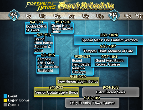 Schedule of Upcoming Events