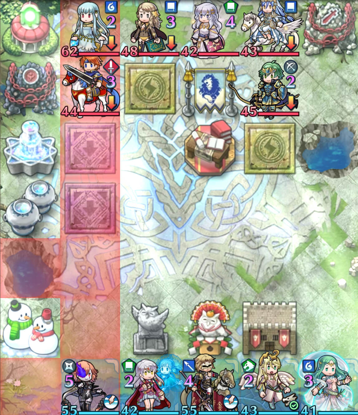 Targeting Ninian to disable Infantry Pulse