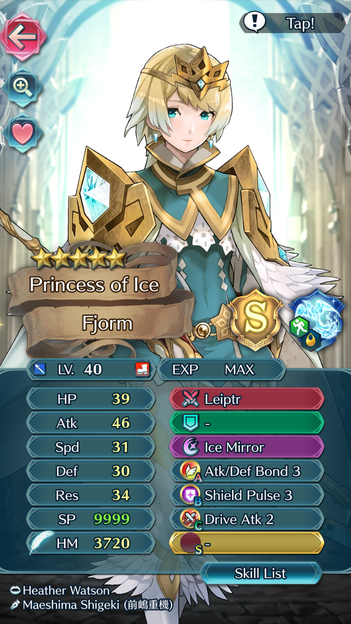 With some healing support, Fjorm is a great choice of unit for this Grand Hero Battle, and one of the few who can take down Saias.