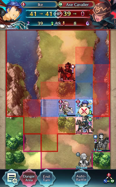 Legendary Ike Nets The KO Due To NY Corrin's Assist, Map Over Screenshot