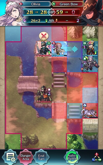 olivia tanks and KOs the green brave archer screenshot