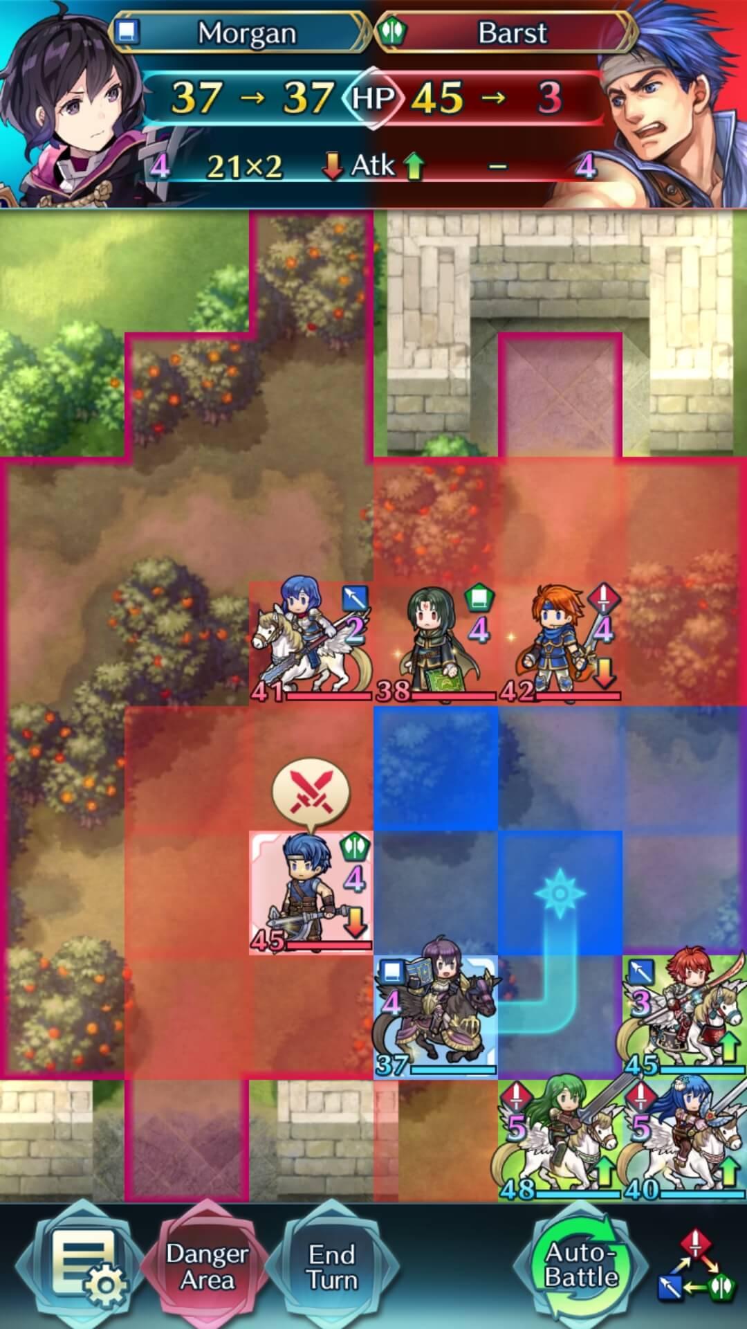 F Morgan attacks Barst