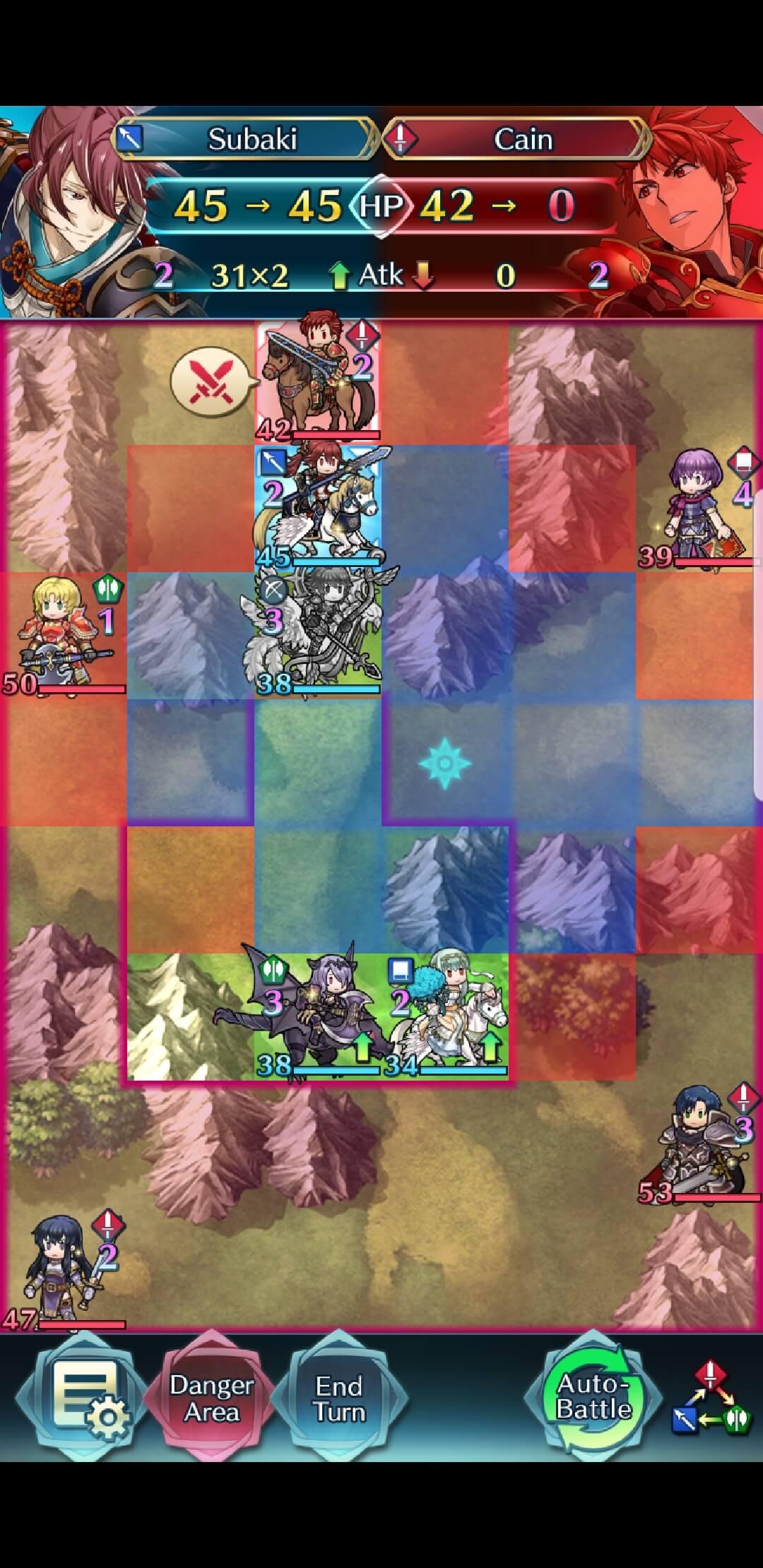 Subaki attacks Cain