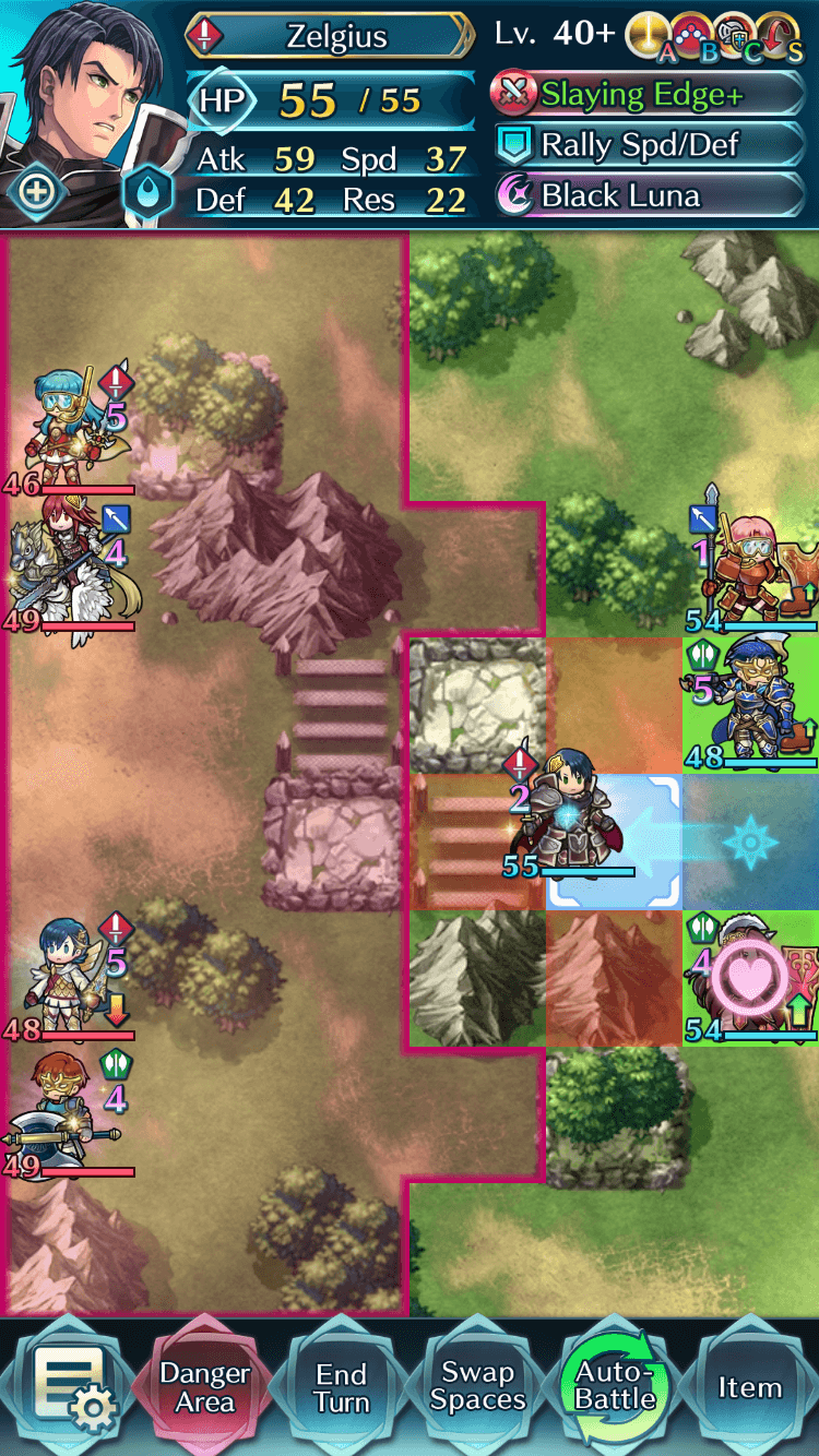 Zelgius without Armor March active