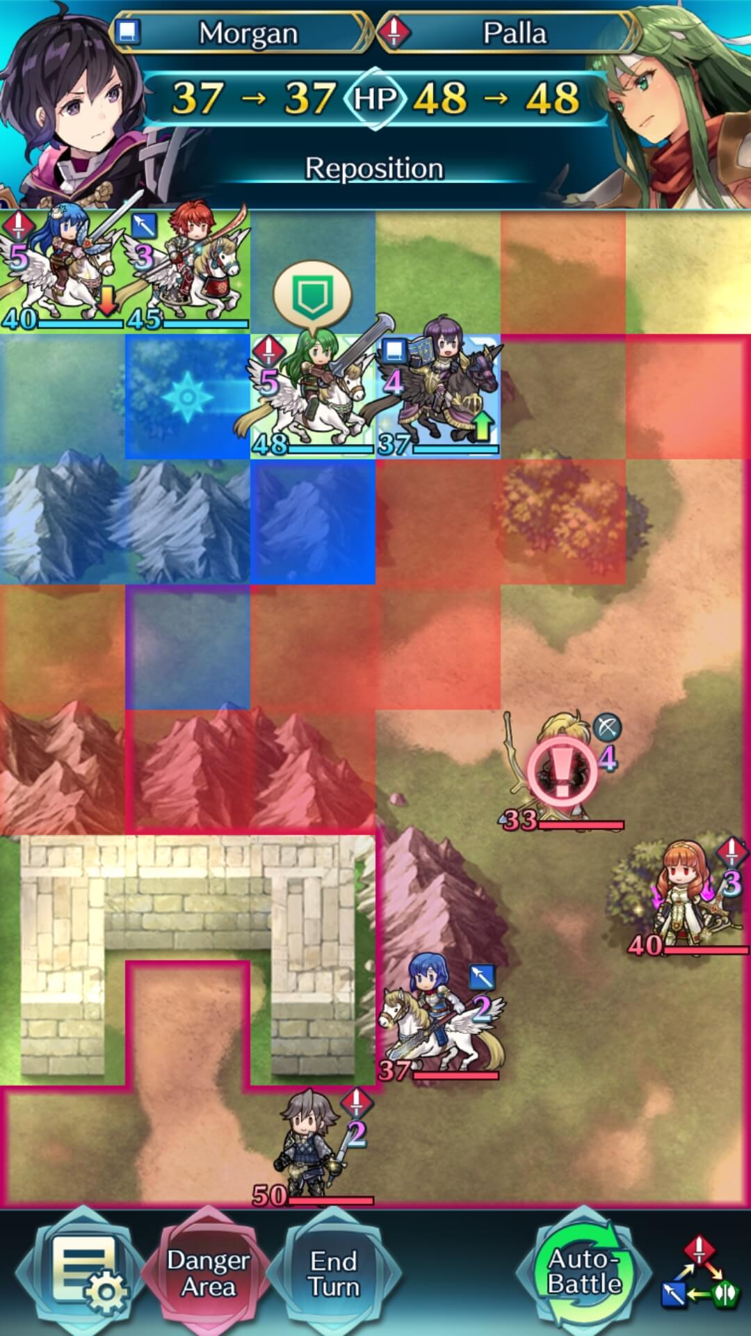 Palla is moved over mountains