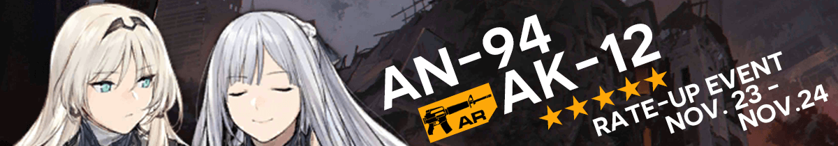 AK-12 and AN-94 Rate-Up Event Countdown Banner