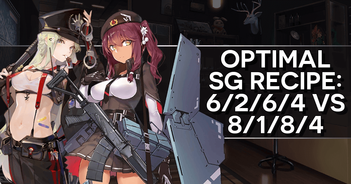 "The top banner for this ""Optimal SG Recipe: 6/2/6/4 vs. 8/1/8/4"" article, featuring Saiga-12  and FP-6"