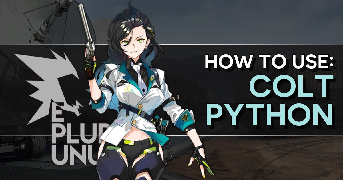 "GFL ""How to use: Colt Python"" banner"