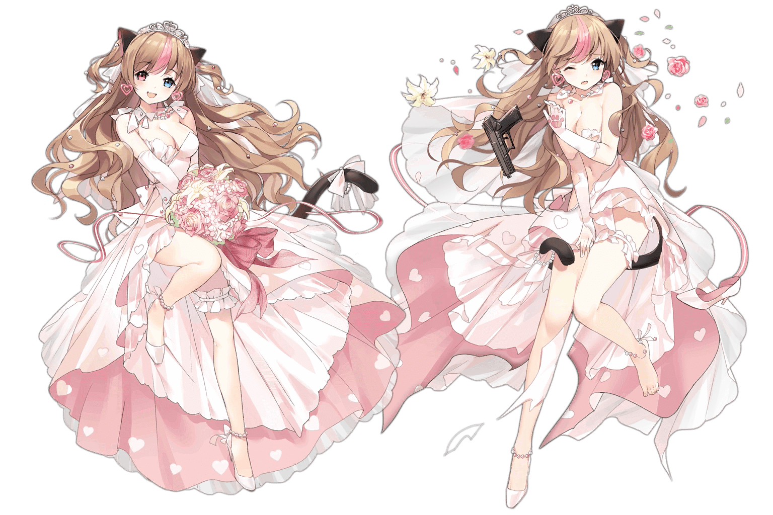 "Mk23's ""Conveyed Feelings"" Costume, normal and damaged art"