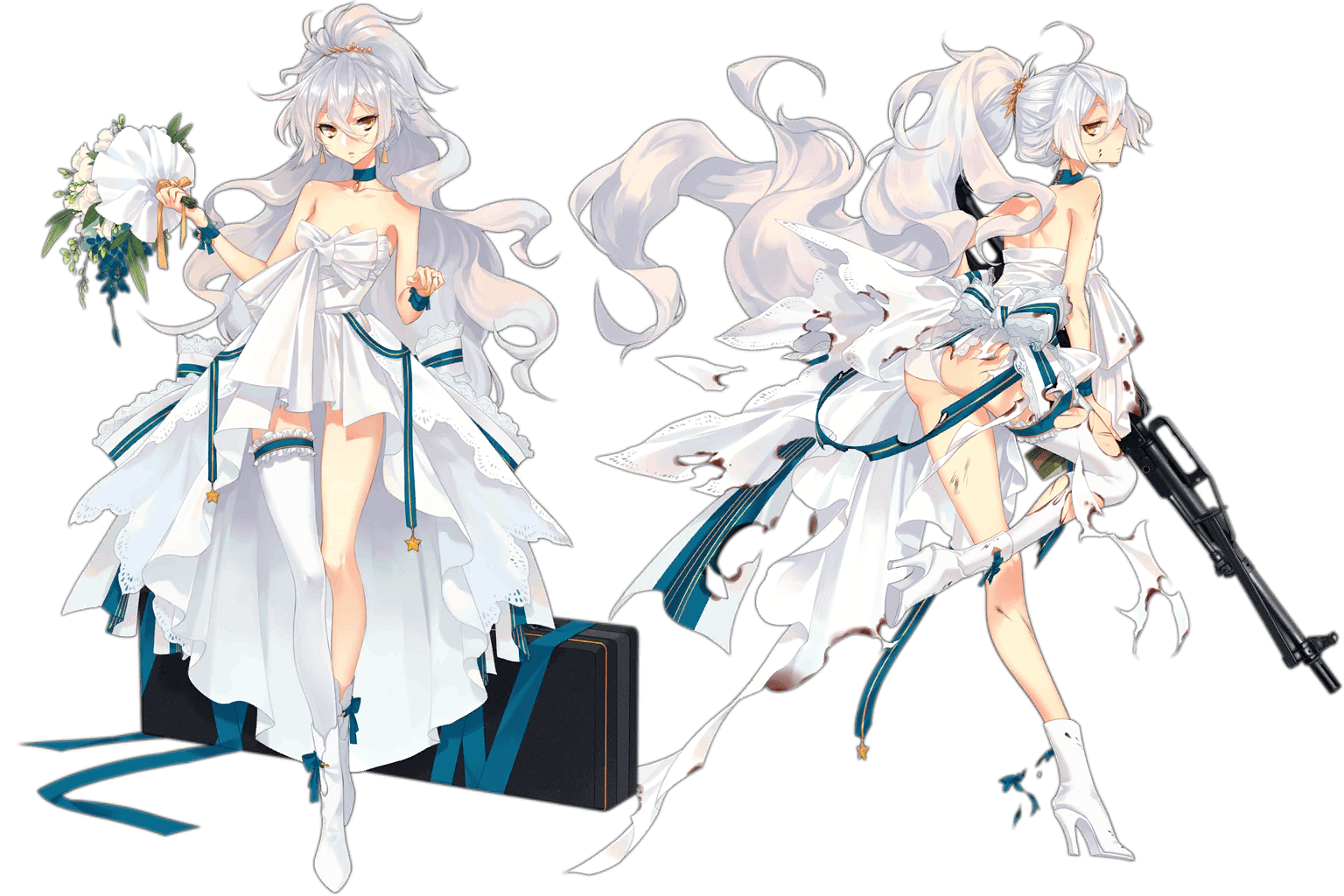 "PKP's ""Silver Star"" Costume, normal and damaged art"
