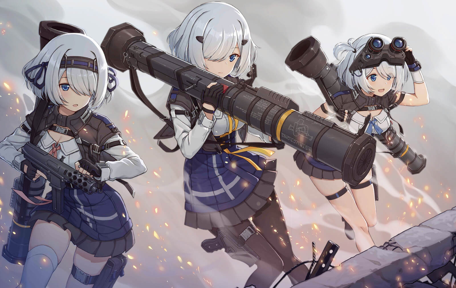 Full in-game art for the AT4 HOC unit in Girls' Frontline