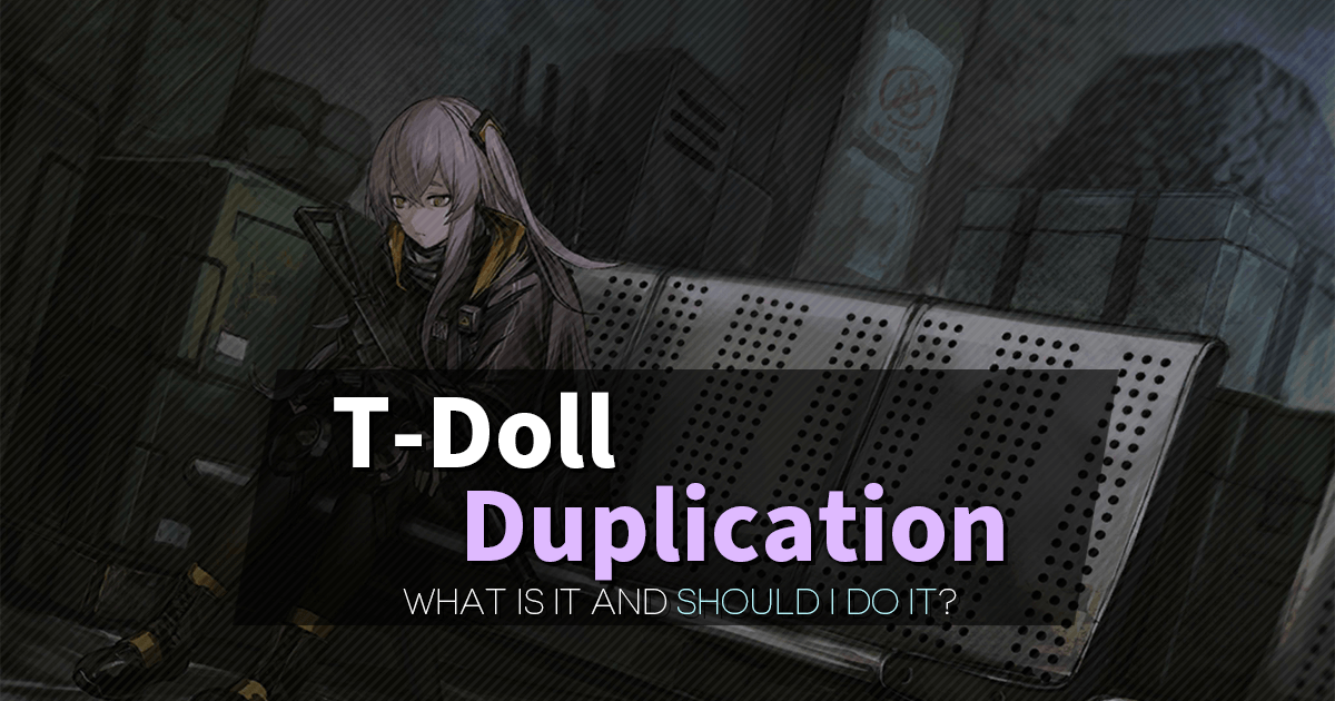 T-Doll Duping Guide rticle banner featuring UMP45.