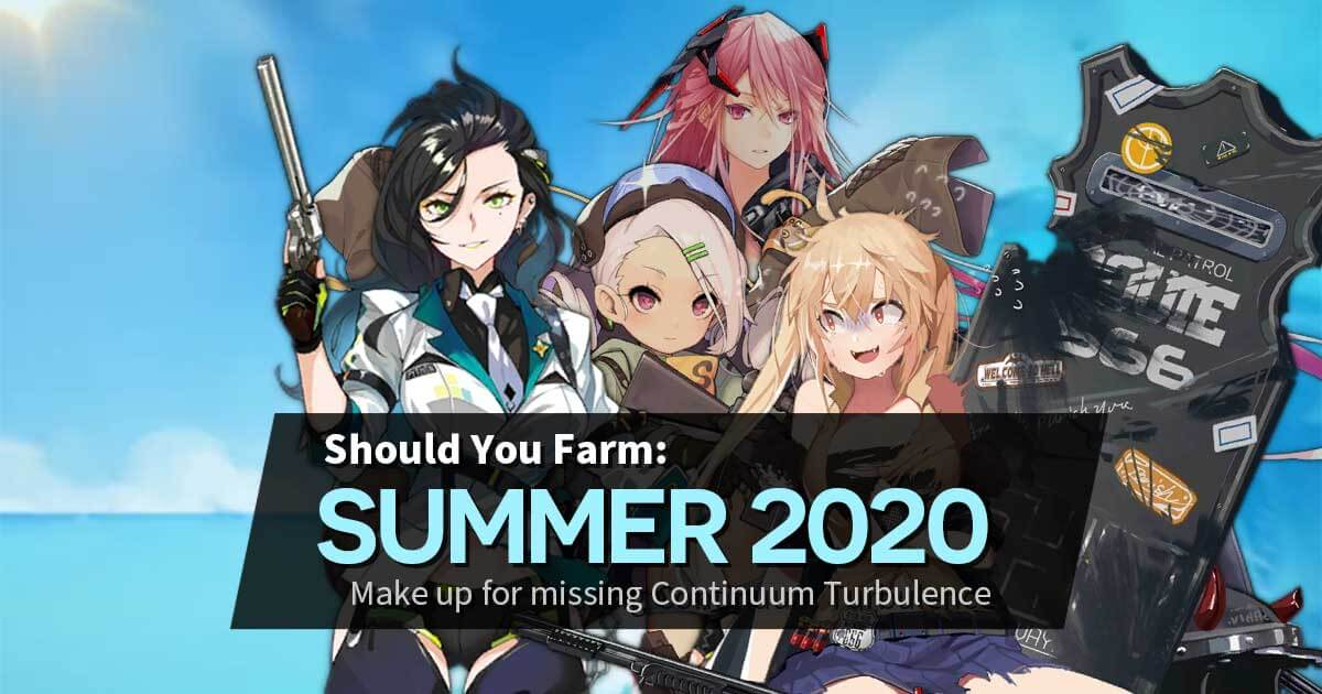 Short guide on whether you should farm the limited drops in the Girls' Frontline Summer 2020 event: Far Side of the Sea.