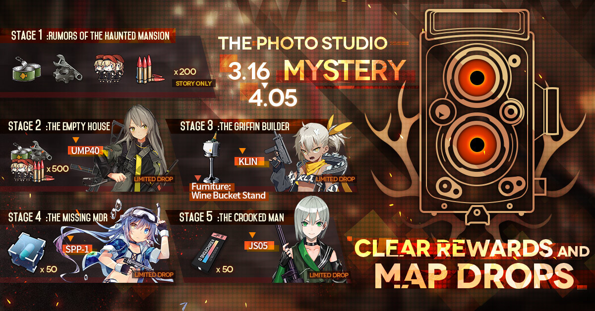 Official Infographic for White Day 2021 Drops and Map Clear Rewards