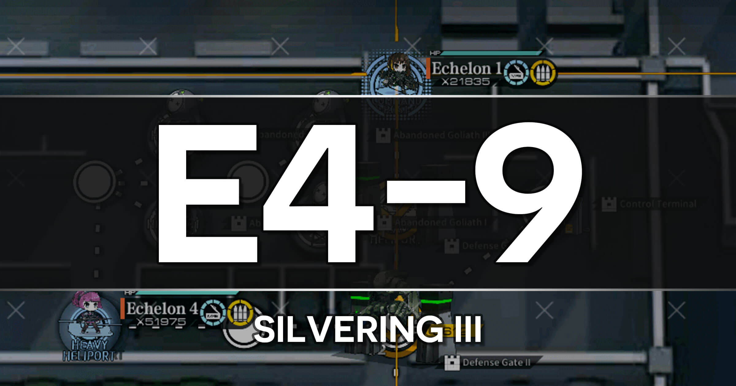 A guide to the Girls Frontline Polarized Light Event stage E4-9: Silvering III