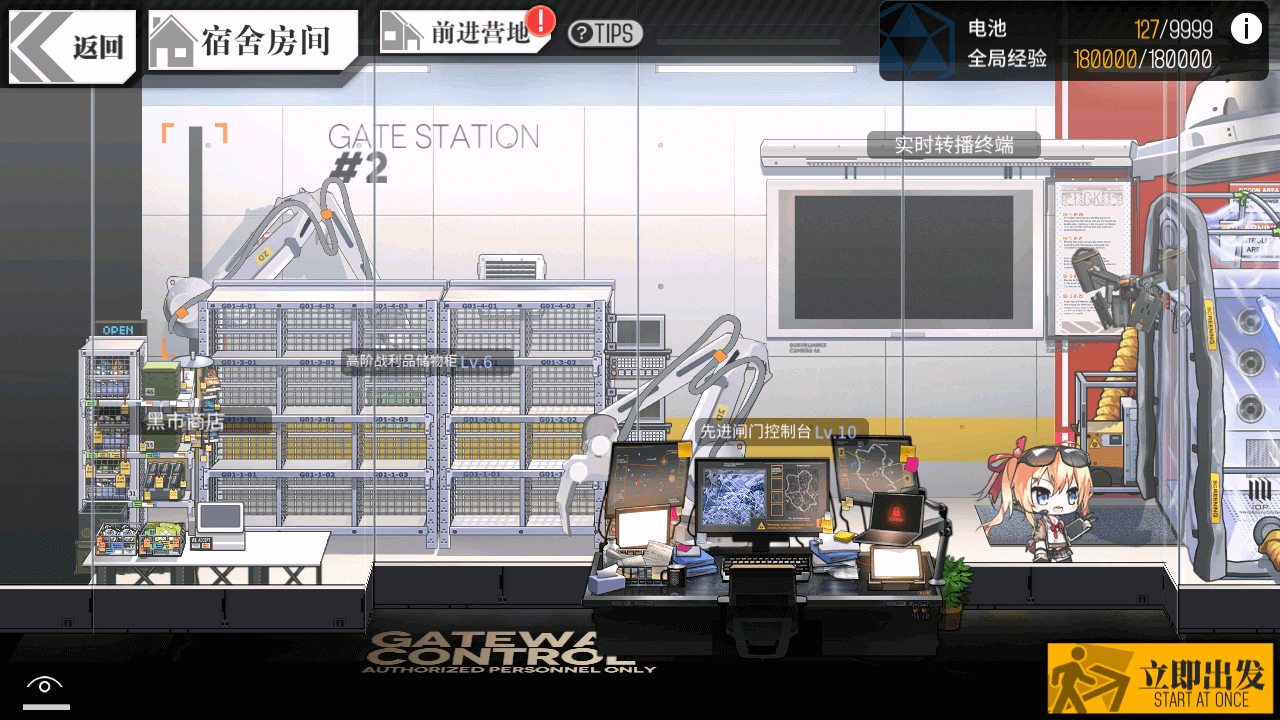 Screenshot of a fully-upgraded Forward Basecamp