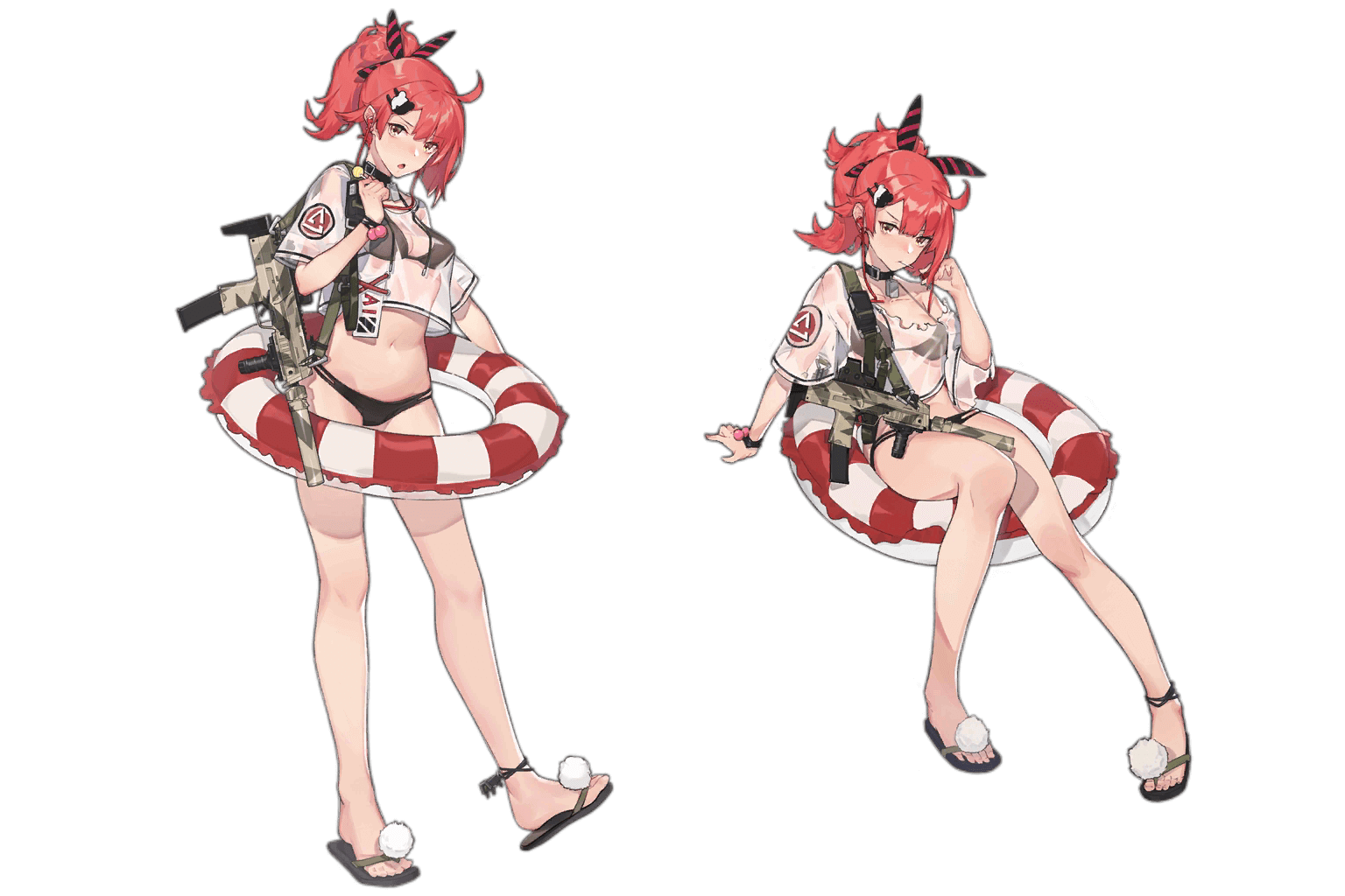 "MP7's ""Candy Ammunition"" costume, regular and damaged art"