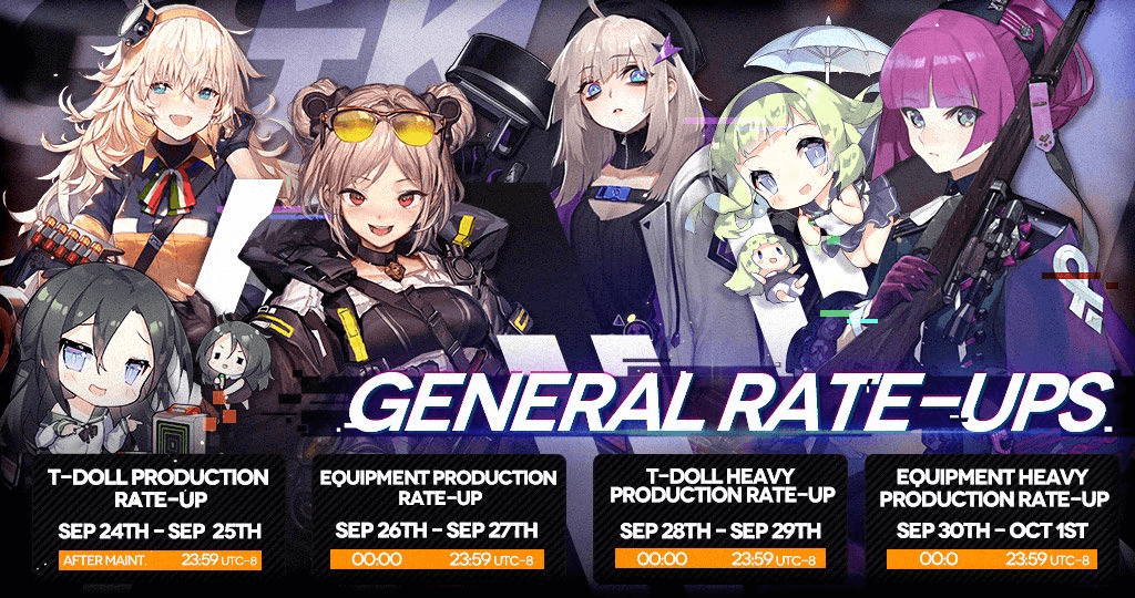 September Rate-Up Schedule