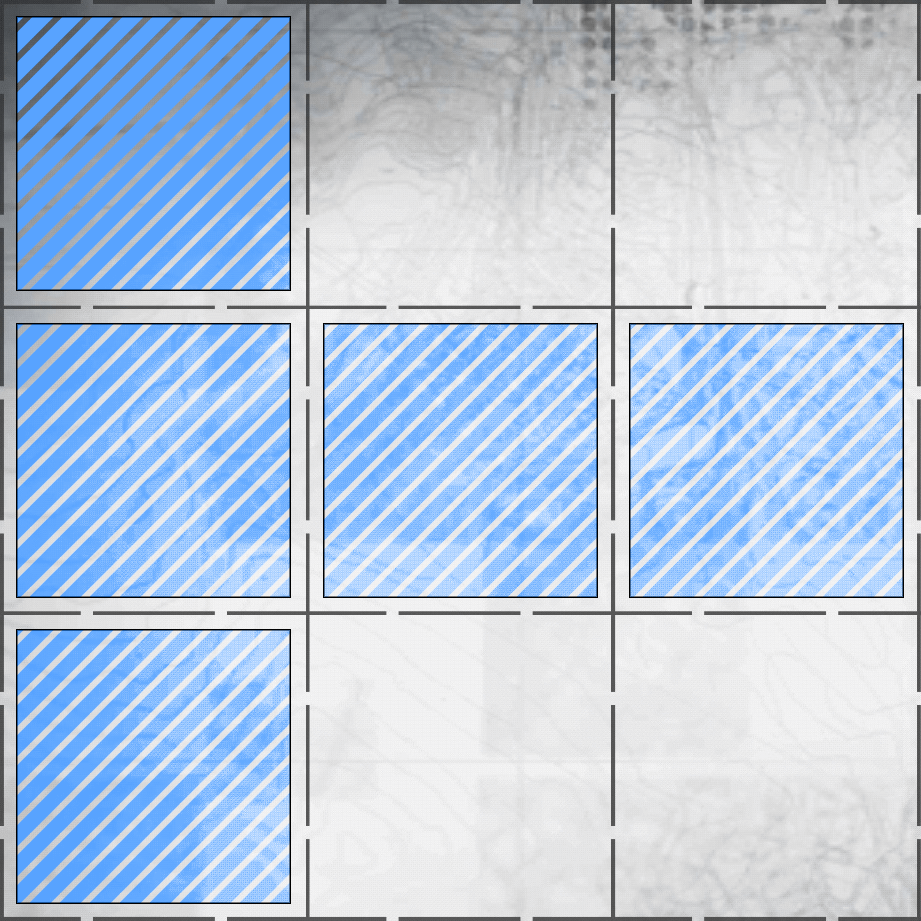 Sideways T formation inline example