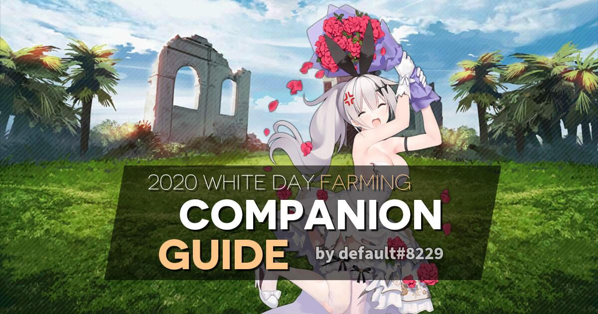 White Day 2020 Farming Companion Guide banner featuring Five-seveN