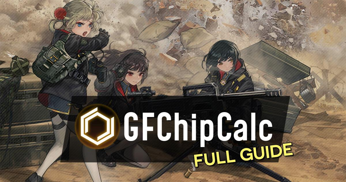 Banner for the Girls' Frontline HOC Calculator guide featuring QLZ-04