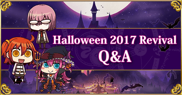 Fate Grand Order Halloween 2020 Revival Support Halloween 2017 Revival Lite Q&A! | Fate Grand Order Wiki   GamePress