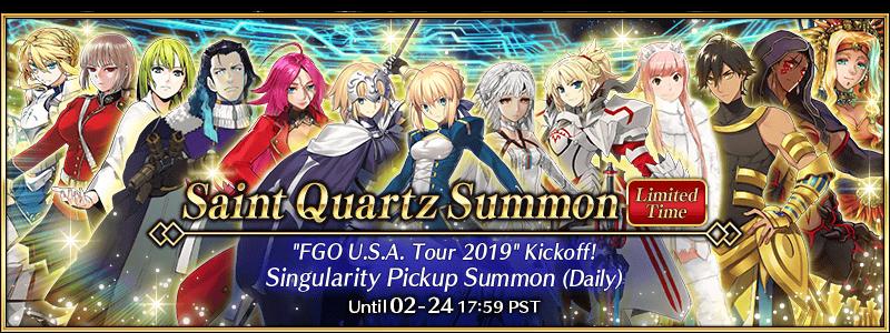 FGO U S A  Tour 2019 Kickoff Commemorative Campaign | Fate Grand