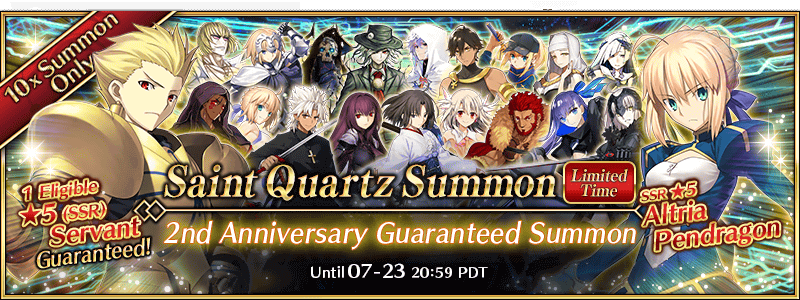 FGO 2019 2nd Anniversary Guaranteed Gacha
