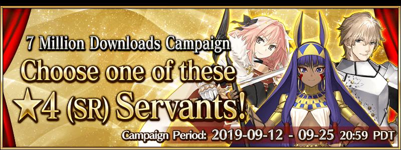 7 Million Downloads Campaign   Fate Grand Order Wiki - GamePress