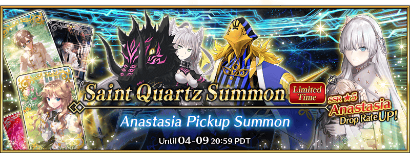 Lostbelt No.1 Anastasia Chapter Release Pickup Summon