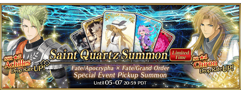 Fate/Apocrypha × Fate/Grand Order Special Event Pickup Summon