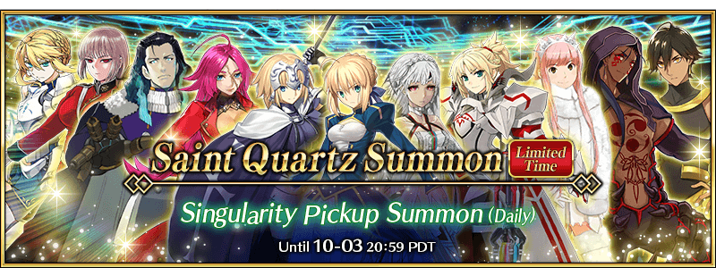 Singularity Pickup Summon Fall 2018 (Daily)