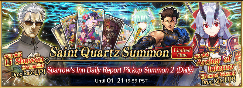 New Year's 2021: Sparrow's Inn Daily Report Pickup Summon 2 (Daily)