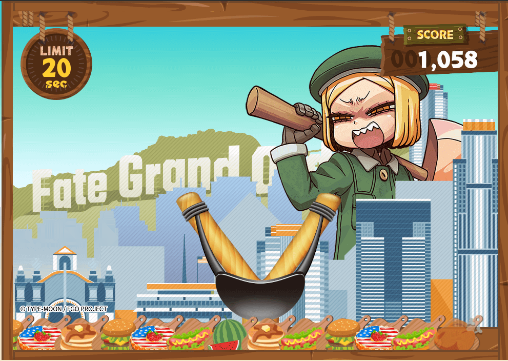 Gameplay image of the promotional mini-game for the Bunyan Event