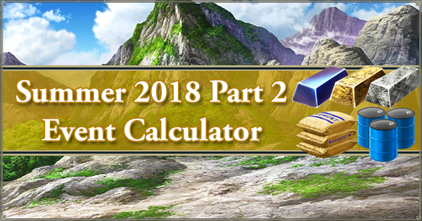 Summer 2018 Part 2 Event Calculator