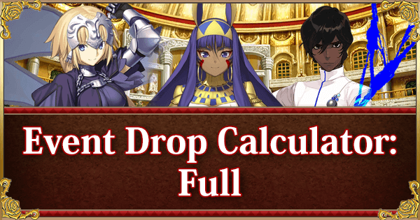 Return of Nero Fest 2018 Event Calculator: Full